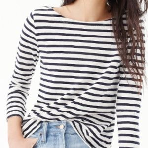 NWT Ann Taylor Factory Boatneck Striped T-shirt